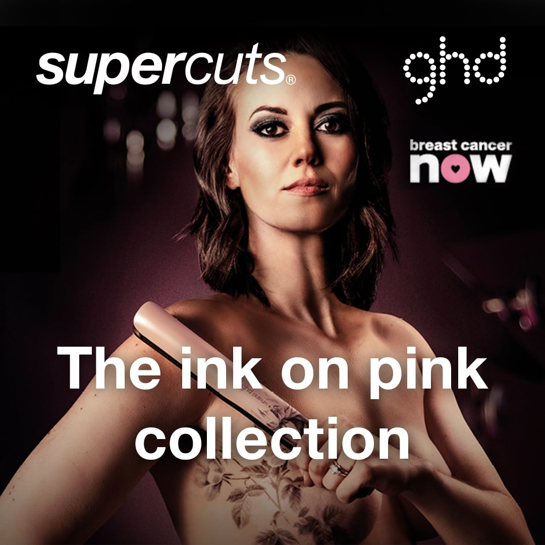 GHD Glide and Ink on Pink collecions  at Supercuts